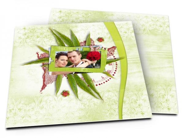 Remerciements mariage - L'horloge végétale