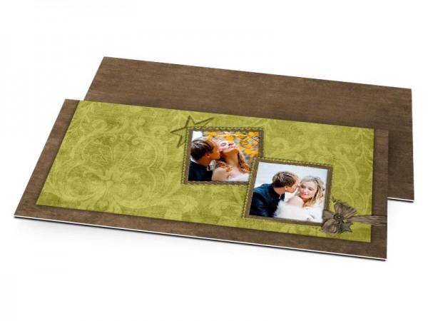 Remerciements mariage - Étoile vert et chocolat
