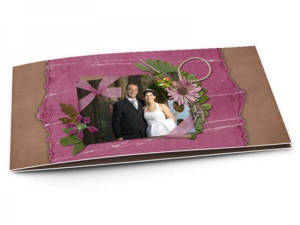 Remerciements mariage - Ocre et pourpre