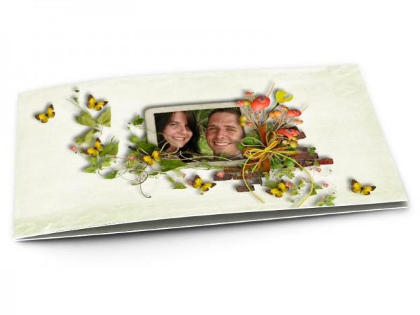 Remerciements mariage - Les papillons jaunes
