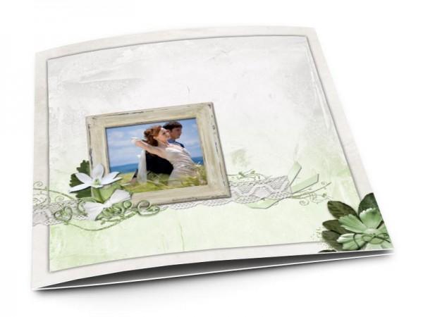 Remerciements mariage - La fleur verte