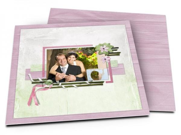 Remerciements mariage - Couleurs pastel et bambous