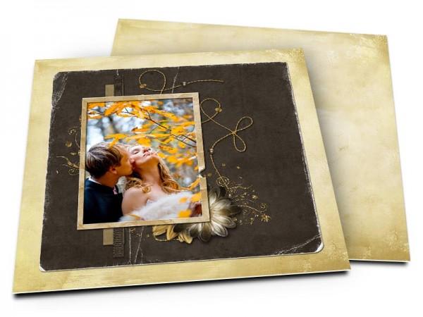 Remerciements mariage - Le fil d'or