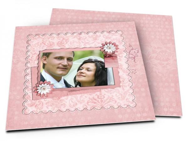 Remerciements mariage - Tout de rose vêtu