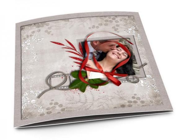 Remerciements mariage - Le ruban rouge