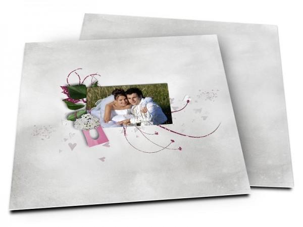 Remerciements mariage - Coeurs qui volent au vent