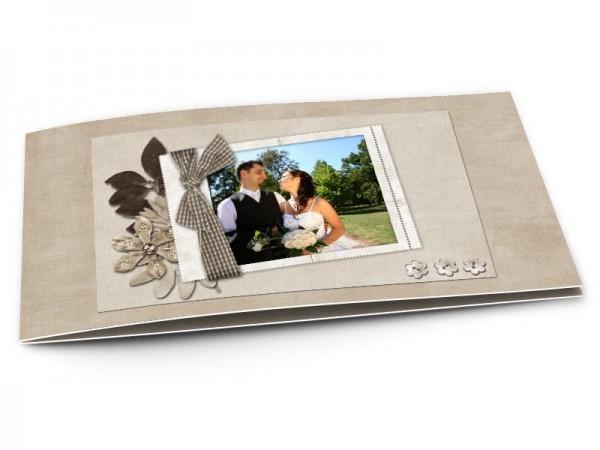 Remerciements mariage - Ruban et trio floral