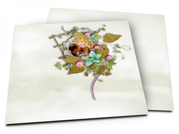 Remerciements mariage - Un petit nid printanier