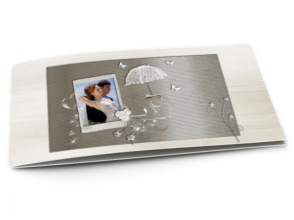 Remerciements mariage - Reflets argentés