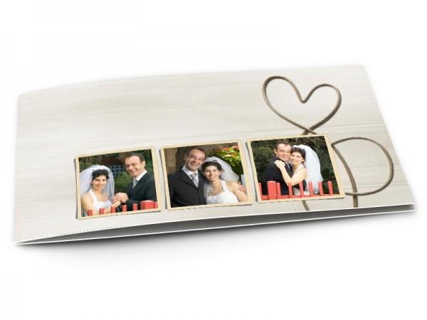 Remerciements mariage - Un coeur tendre