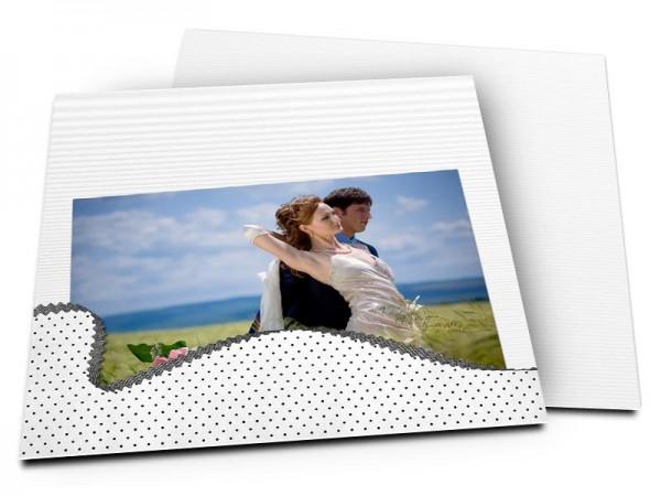 Remerciements mariage - Une vague de pois