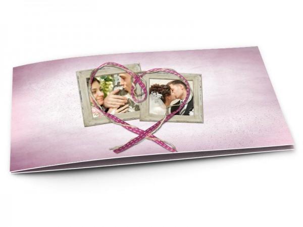 Remerciements mariage - Fil + ruban = coeur