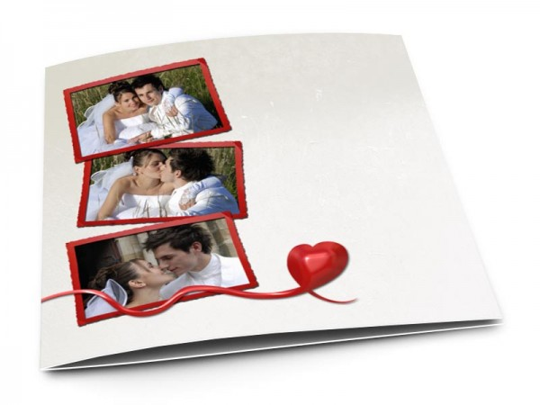 Remerciements mariage - Coeur rampant
