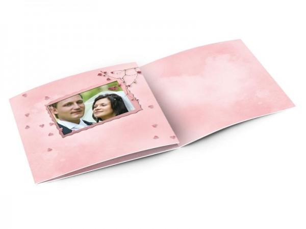 Remerciements mariage - Un nuage de coeurs