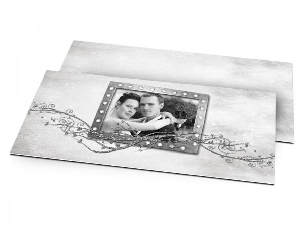 Remerciements mariage - Une branche argentée sous un ciel étoilé