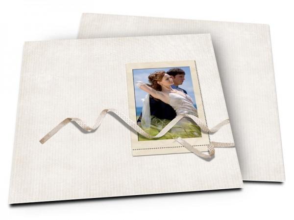 Remerciements mariage - Un ruban plus vrai que nature