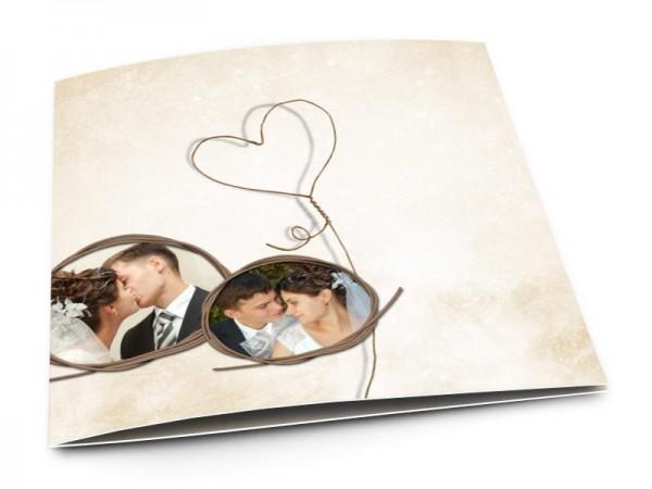 Remerciements mariage - Coeur lasso
