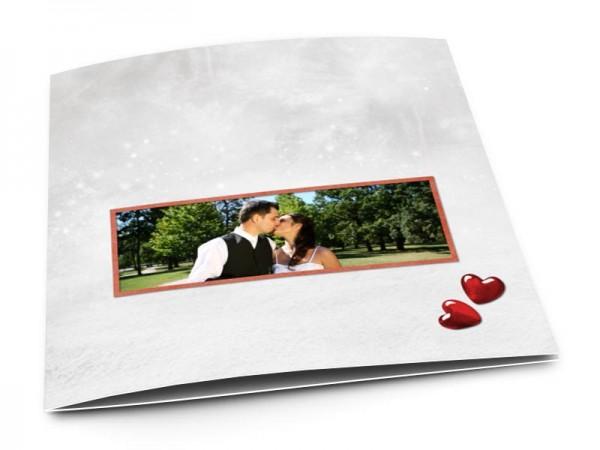 Remerciements mariage - Deux coeurs au paradis