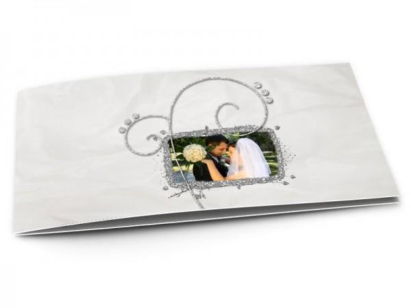 Remerciements mariage - Ornement gris sur fond clair