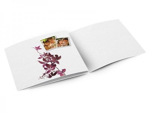 Remerciements mariage - La branche aux feuilles violettes