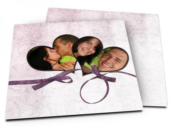 Remerciements mariage - Ruban violet fantaisie