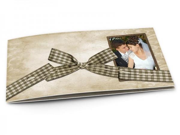 Remerciements mariage - Un noeud de ruban à carreaux