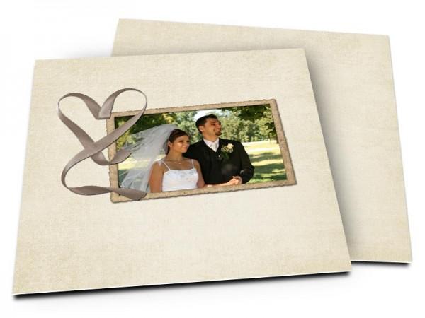Remerciements mariage - Un amour de ruban