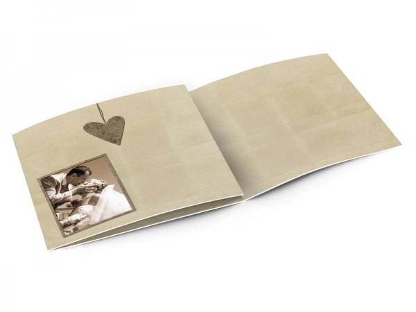 Remerciements mariage - Pendentif coeur marron