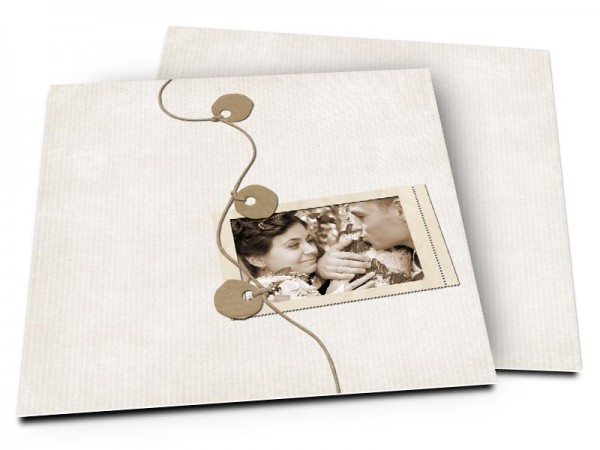Remerciements mariage - Bijou marron