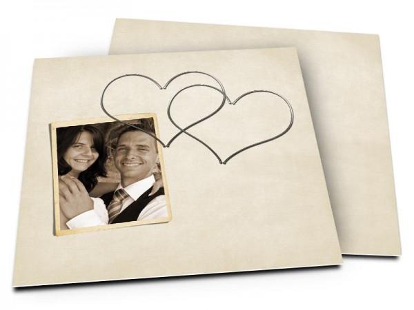 Remerciements mariage - Deux coeurs inséparables