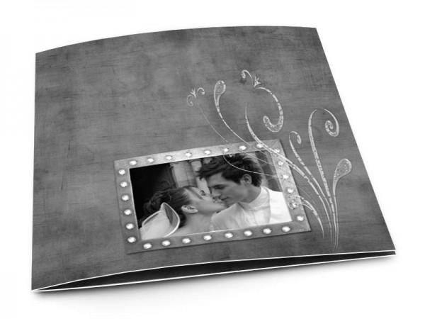 Remerciements mariage - Plante gravée sur un fond noir
