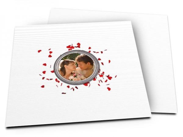 Remerciements mariage - Coeurs mélangés