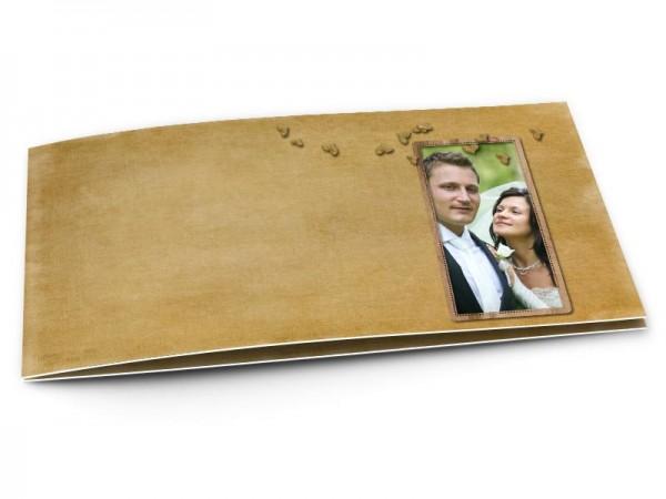 Remerciements mariage - Petits coeurs sur fond ivoire