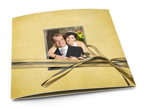 Remerciements mariage - Une histoire en or