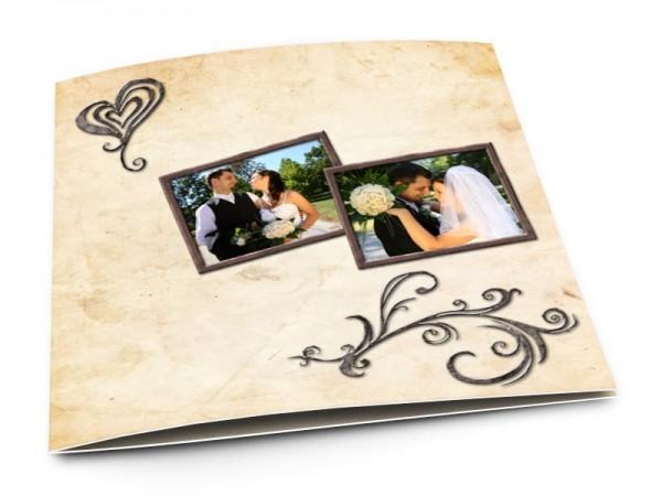 Remerciements mariage - Coeur stylisé et arabesque