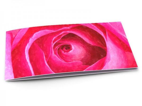 Remerciements mariage - Une rose façon aquarelle