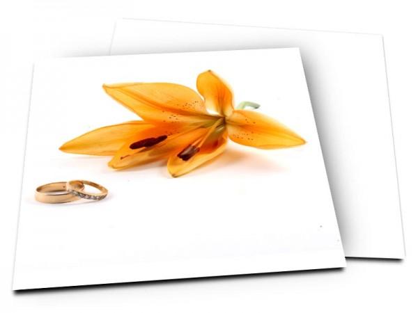 Remerciements mariage - Lys et alliances