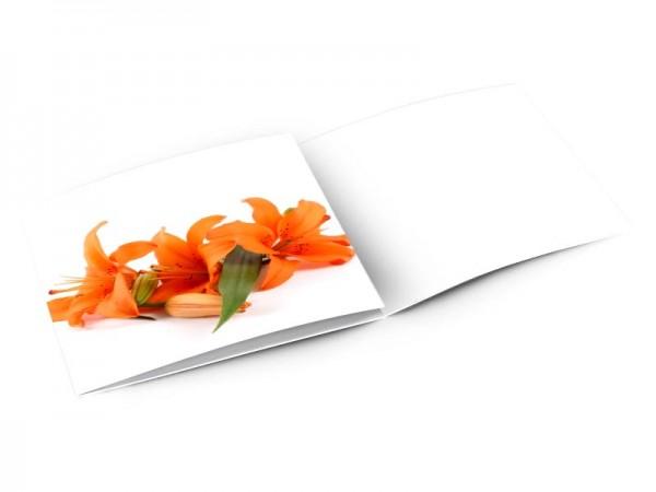 Remerciements mariage - Trois lys orange