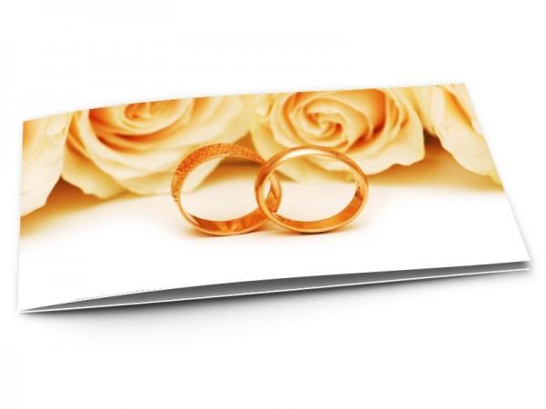 Remerciements mariage - Deux anneaux d'or