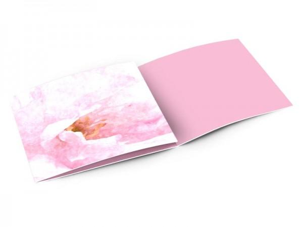 Remerciements mariage - Mystère en rose