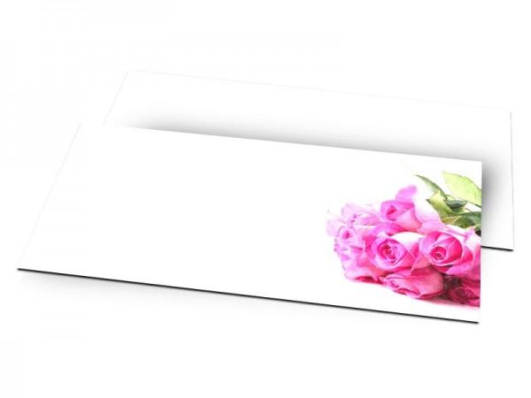Remerciements mariage - Cascade de fleurs