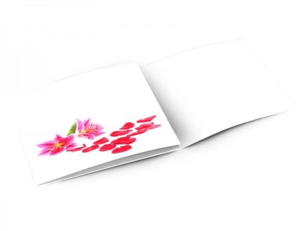Remerciements mariage - Parterre fleuri
