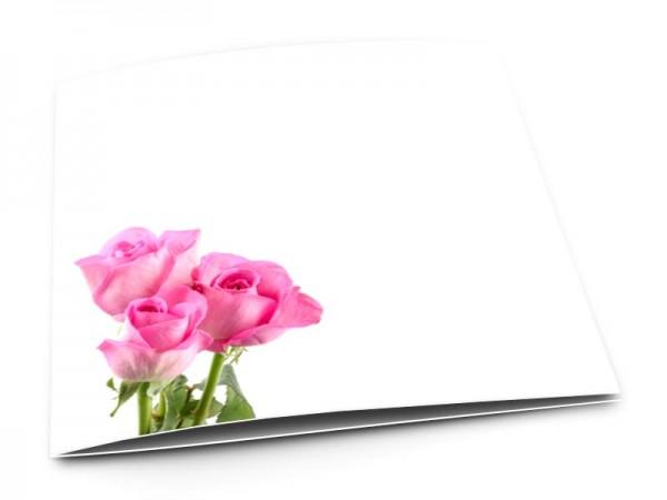 Remerciements mariage - Trio de rose