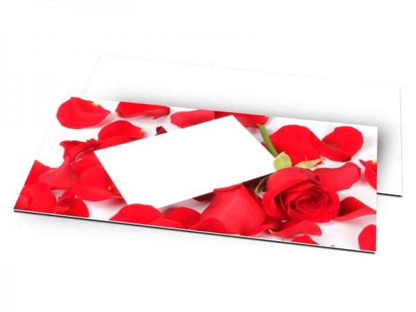 Remerciements mariage - Cocon de rose