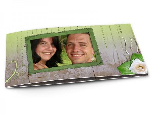 Remerciements mariage - Bois vert et gris