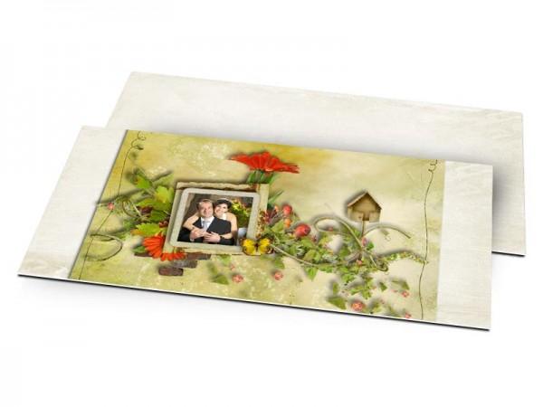 Remerciements mariage - Champêtre – joie printanière
