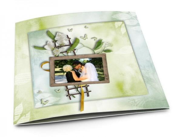 Remerciements mariage - Champêtre – l'échelle et les papillons blancs