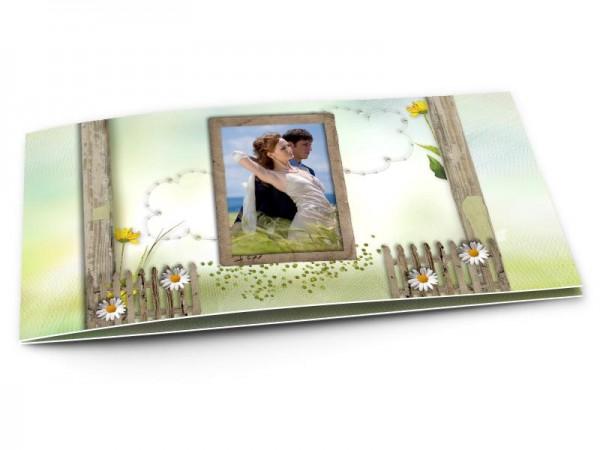 Remerciements mariage - Champêtre – marguerites et fleurs jaunes