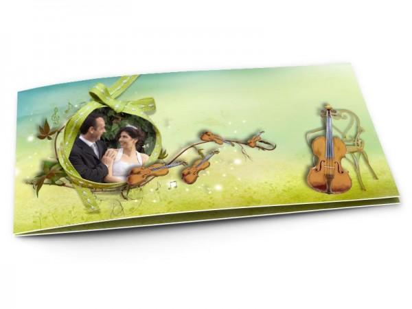 Remerciements mariage - La musique - violons et violoncelles