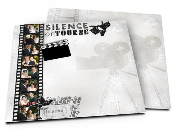 Remerciements mariage - Le cinéma – silence on tourne